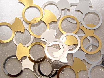 Gold & Silver Engagement Ring Confetti
